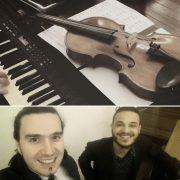 teclado e violino para cerimônia